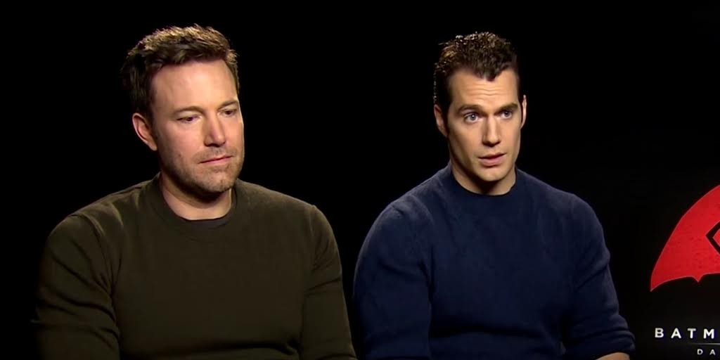 Captions: Oh no poor Ben Affleck is having post-traumatic stress disorder flashbacks of his other terrible superhero film, 2003's Daredevil. (Image Source: Dailydot)