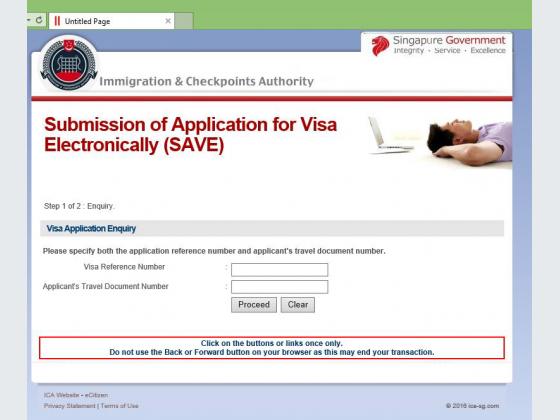 Screenshot of the fake ICA website at ica.sg.com.