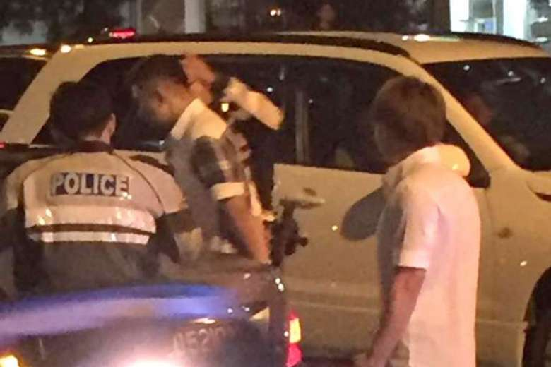 The accident took place at the traffic junction between Jurong West Avenue 1 and Jurong West Street 41 on Tuesday. Ms Siti was on her way to help her boyfriend's family at their Ramly burger stall when she was hit.PHOTO: COURTESY OF AFYQUE SALLEH (via straitstimes.com)