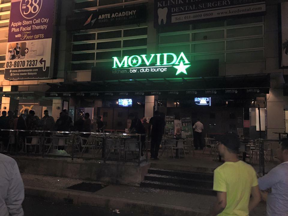 The Movida bar on the outskirts of Kuala Lumpur which was attacked by a grenade in June 2016.