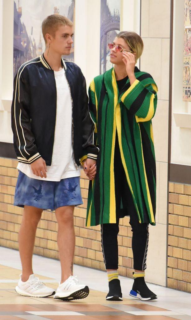 The pair were seen at Yaesu shopping mall