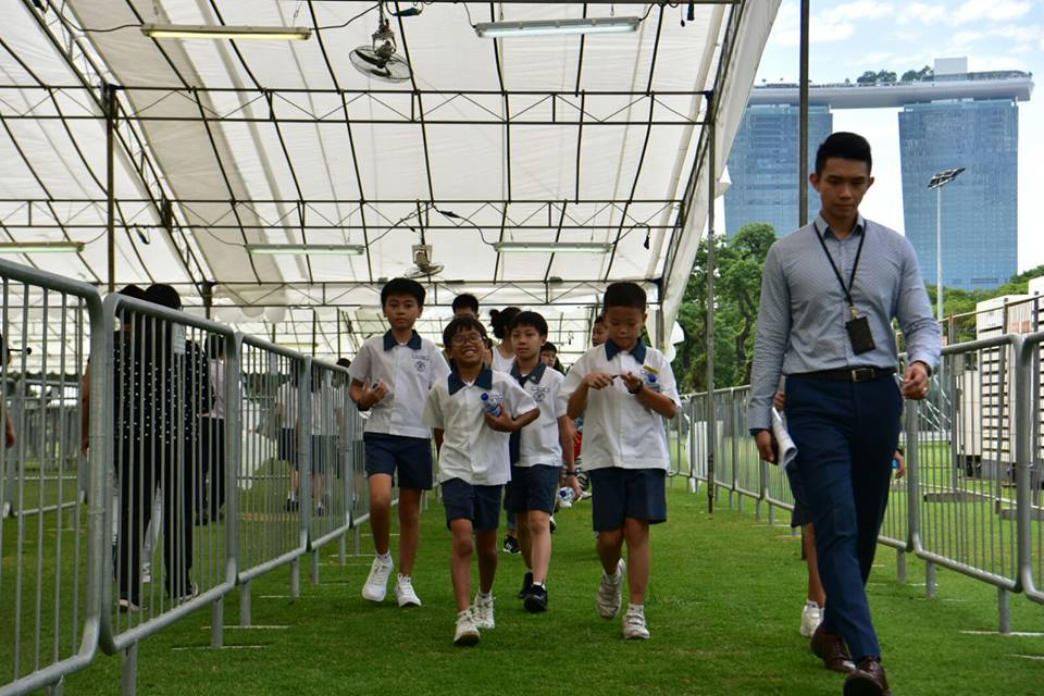 school students and SR nathan