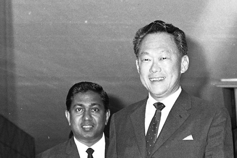 Mr Nathan worked closely with the late Mr Lee Kuan Yew as a civil servant and as President from 1999 to 2011. The above photo was taken in 1971. (via Straits Times)