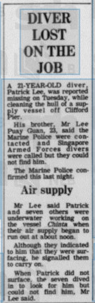 Source: The Straits Times (22 October 1981)
